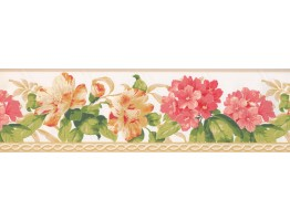 7 in x 15 ft Prepasted Wallpaper Borders - Floral Wall Paper Border 4630 BA