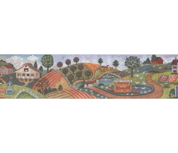 Country Wallpaper Borders: Country Wallpaper Border 3006 BB C