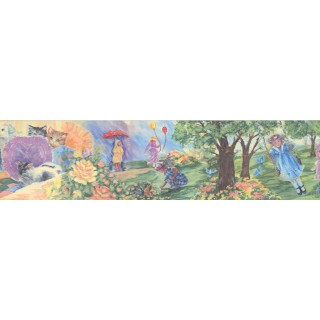 6 in x 15 ft Prepasted Wallpaper Borders - Girls Wall Paper Border 3014 BB A