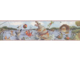 Prepasted Wallpaper Borders - Animals Wall Paper Border 3015 BB A