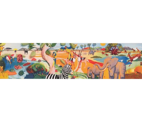 Jungle Animals Wallpaper Border 3025 BB A