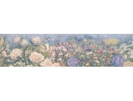 6 in x 15 ft Prepasted Wallpaper Borders - Floral Wall Paper Border 4019 BB A