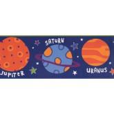 Prepasted Wallpaper Borders - Sun Moon Star Wall Paper Border 5379 BBS
