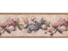 Floral Wallpaper Border 10012 BE