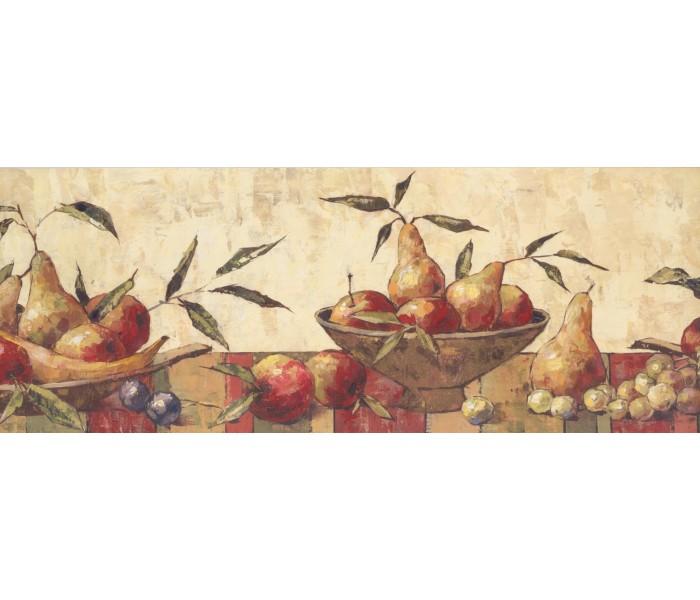 Garden Wallpaper Borders: Fruits Wallpaper Border 10121 BE