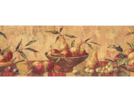 Prepasted Wallpaper Borders - Fruits Wall Paper Border 10122 BE