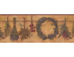Prepasted Wallpaper Borders - Garden Wall Paper Border 10242 BE