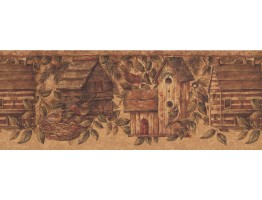 Birds House Wallpaper Border 10562 BE