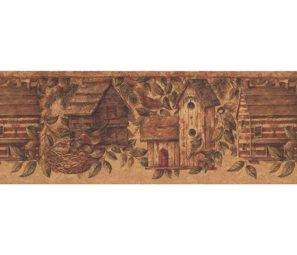 Prepasted Wallpaper Borders - Birds House Wall Paper Border 10562 BE
