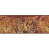Jungle Animals Wallpaper Border 10612 BE York Wallcoverings