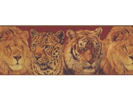 9 in x 15 ft Prepasted Wallpaper Borders - Animals Wall Paper Border 10612 BE