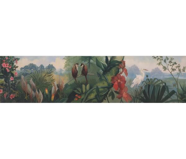 Garden Wallpaper Borders: Garden Wallpaper Border 11001 BE