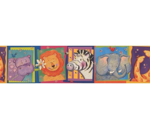 Prepasted Wallpaper Borders - Kids Wall Paper Border 11051 BE