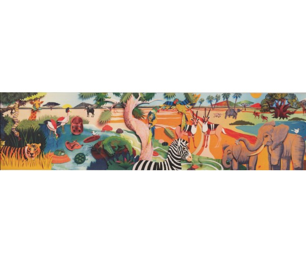 Jungle Animals Wallpaper Border 1111 BE York Wallcoverings