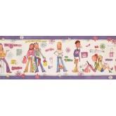 Kids Wallpaper Borders: Girls Wallpaper Border 11192 BE