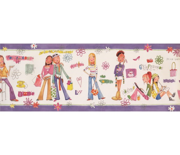 Kids Borders Girls Wallpaper Border 11192 BE York Wallcoverings