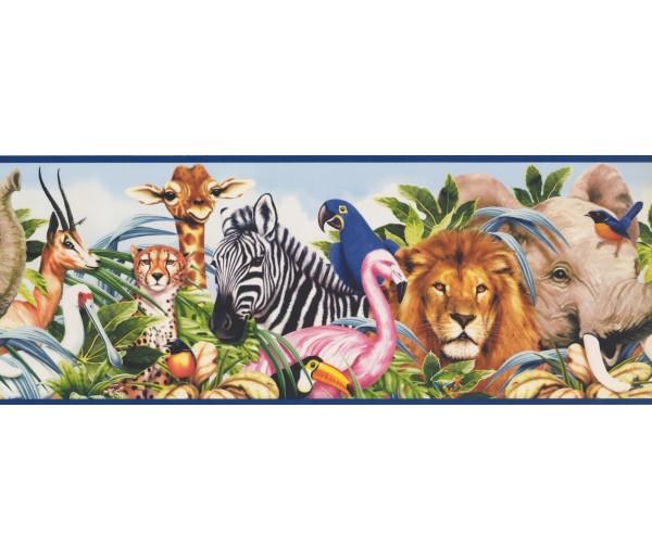 Jungle Animals Wallpaper Border 11251 BE York Wallcoverings