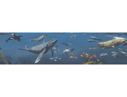 Prepasted Wallpaper Borders - Sea World Wall Paper Border 11351 BE