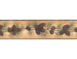 Prepasted Wallpaper Borders - Pine Wall Paper Border 1669 BG
