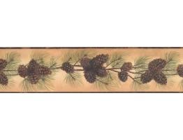 Prepasted Wallpaper Borders - Pine Wall Paper Border 1669 BG