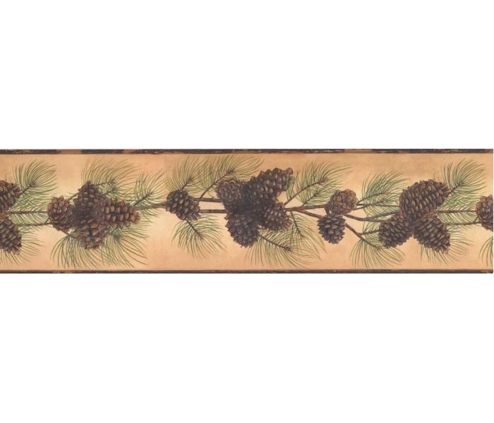 Garden Wallpaper Borders: Pine Wallpaper Border 1669 BG