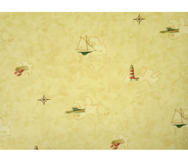 Nautical Wallpaper: Light and Ships Wallpaper BH89063