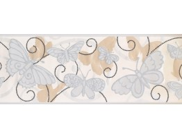 Prepasted Wallpaper Borders - Butterfly Wall Paper Border 5402 BS