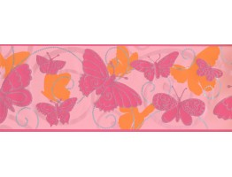 Prepasted Wallpaper Borders - Butterfly Wall Paper Border 5406 BS