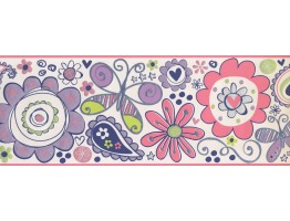 Prepasted Wallpaper Borders - Kids Wall Paper Border 5414 BS