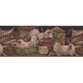 Laundry Borders Rooster Wallpaper Border 7022 BSB York Wallcoverings