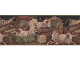 Rooster Wallpaper Border 7022 BSB