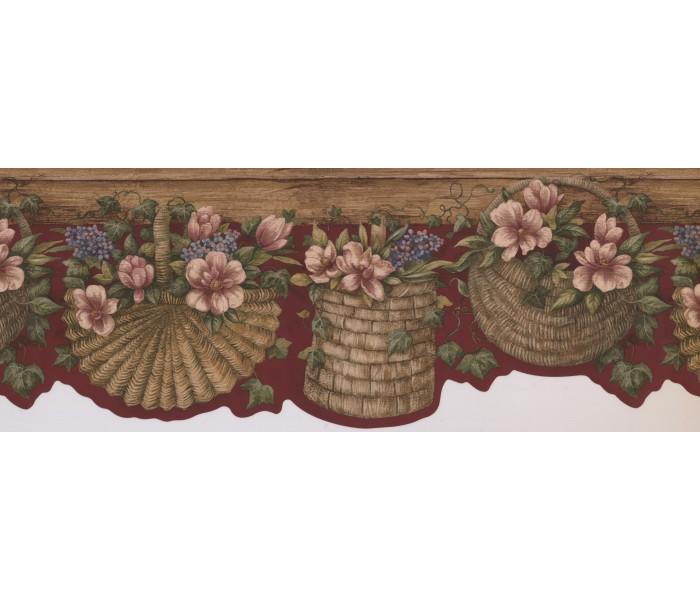 Floral Wallpaper Borders: Floral Wallpaper Border 7071 BSB