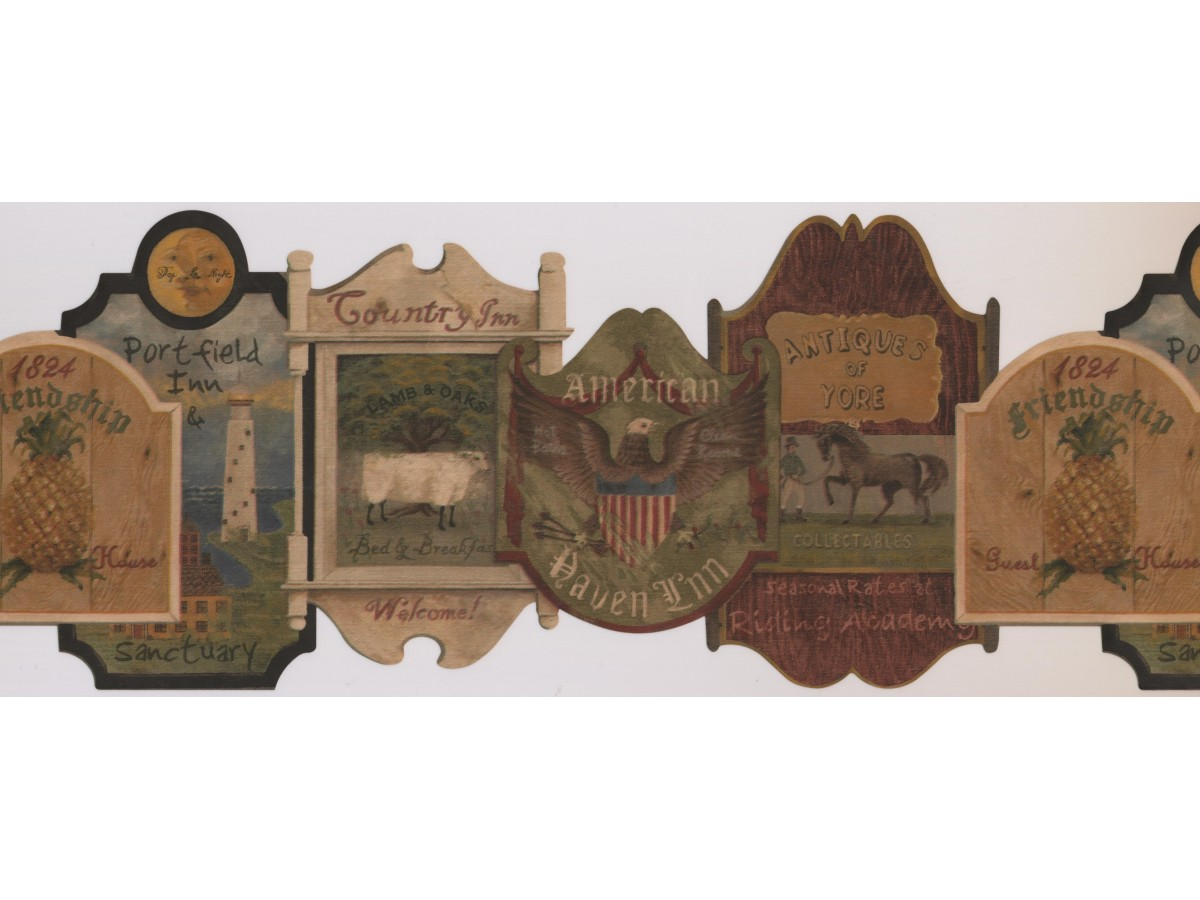 Country Wallpaper Border 7093 BSB