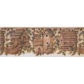 Prepasted Wallpaper Borders - Birds House Wall Paper Border 7142 BSB