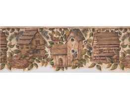 Birds House Wallpaper Border 7142 BSB