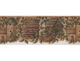 Birds House Wallpaper Border 7143 BSB