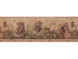 Prepasted Wallpaper Borders - Garden Wall Paper Border 7181 BSB