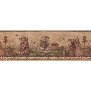 8 in x 15 ft Prepasted Wallpaper Borders - Garden Wall Paper Border 7181 BSB