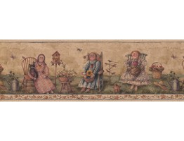 Prepasted Wallpaper Borders - Garden Wall Paper Border 7183 BSB