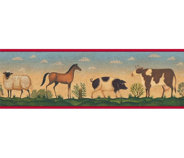 Animal Wallpaper Borders: Diane Ulmer Perdersen Wallppaer Border 250B69201