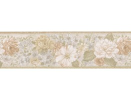 Prepasted Wallpaper Borders - Floral Wall Paper Border 62B03918