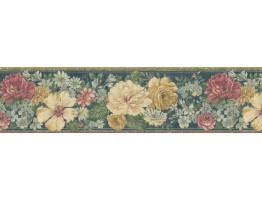 Prepasted Wallpaper Borders - Floral Wall Paper Border 62B03933