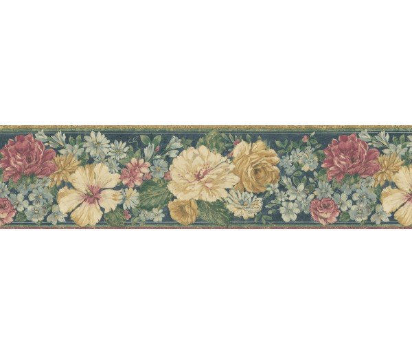 Garden Wallpaper Borders: Floral Wallpaper Border 62B03933