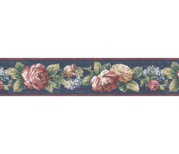 Garden Wallpaper Borders: Floral Wallpaper Border 7245-811B