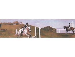 Prepasted Wallpaper Borders - Horses Wall Paper Border 3018 CA