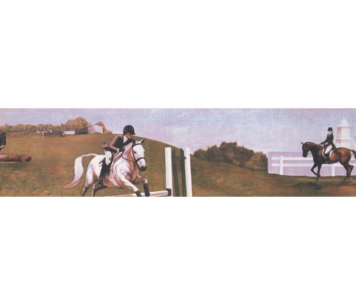 Horses Wallpaper Borders: Horses Wallpaper Border 3018 CA