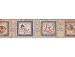 Prepasted Wallpaper Borders - Zodiac Wall Paper Border 3023 CA