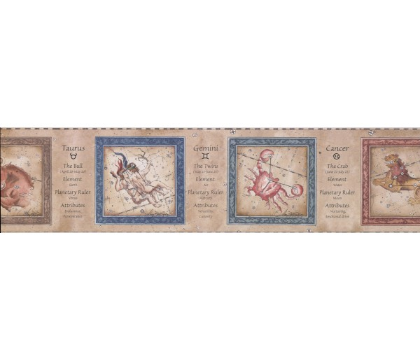 Novelty Borders Zodiac Wallpaper Border 3023 CA York Wallcoverings