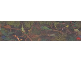 Prepasted Wallpaper Borders - Reptiles Wall Paper Border 3060 CA