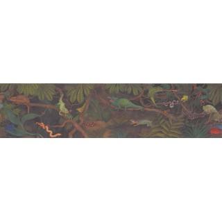 6 in x 15 ft Prepasted Wallpaper Borders - Reptiles Wall Paper Border 3060 CA